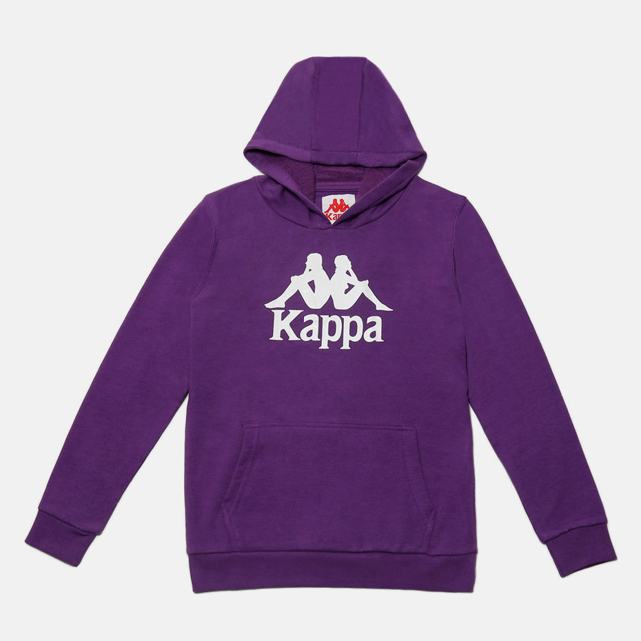 KAPPA JR SWEATHOOD ZIMIM, VIOLETP-WHITE