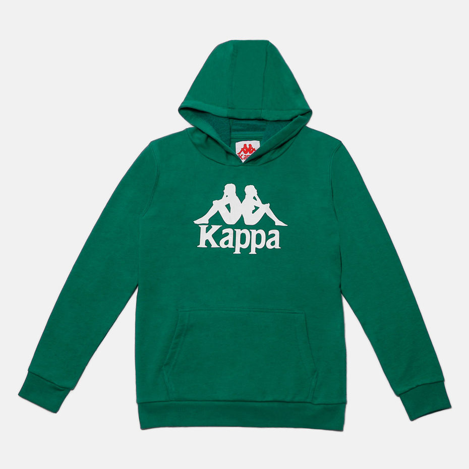 KAPPA JR SWEATHOOD ZIMIM, GREEN-WHITE