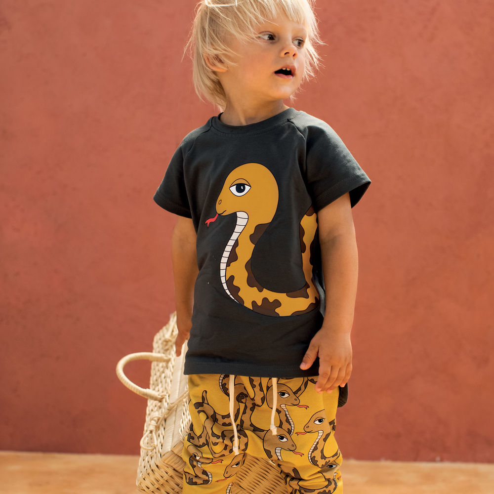 DEAR SOPHIE SNAKE T-SHIRT BLACK