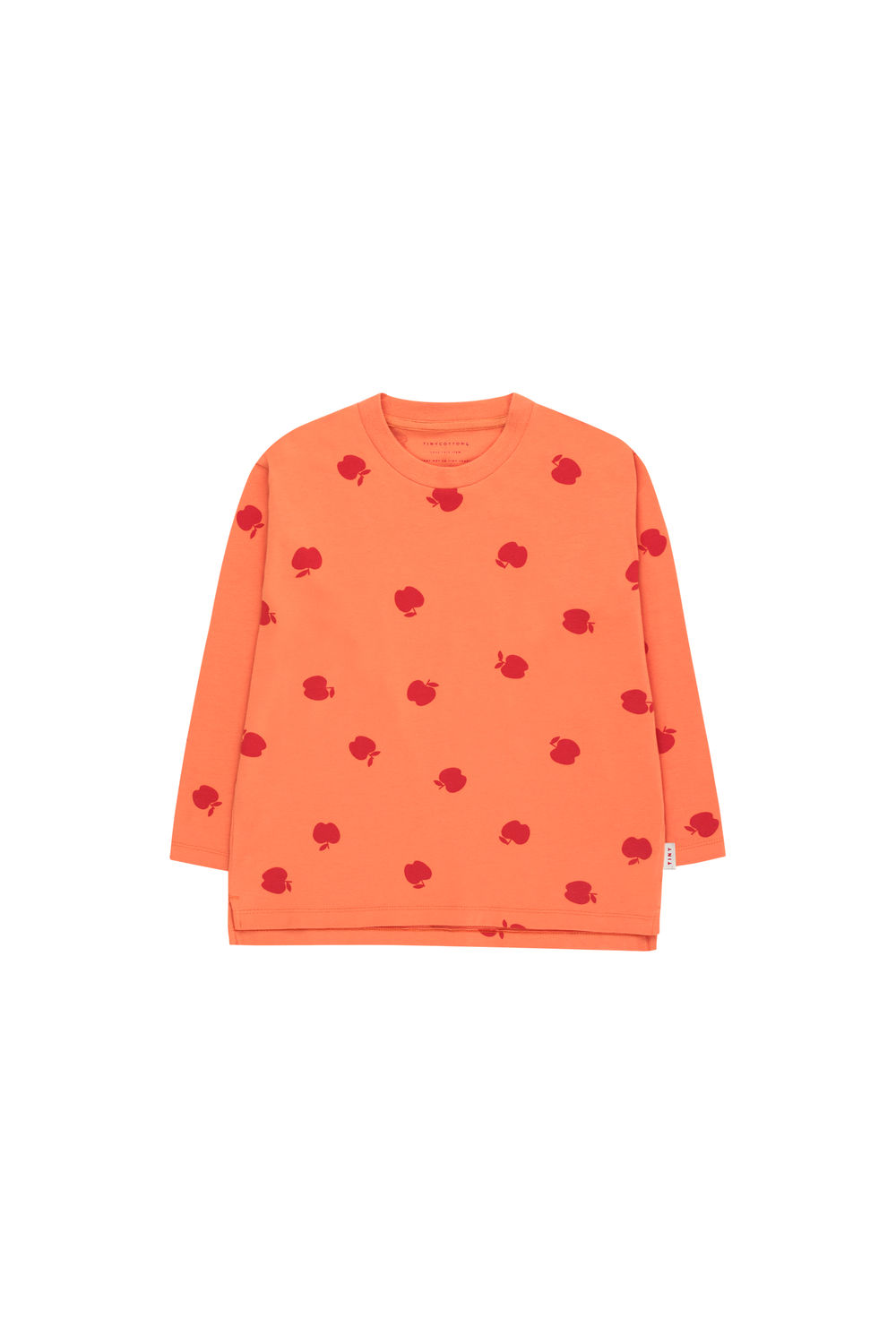 TINY COTTONS APPLES LS TEE, CORAL