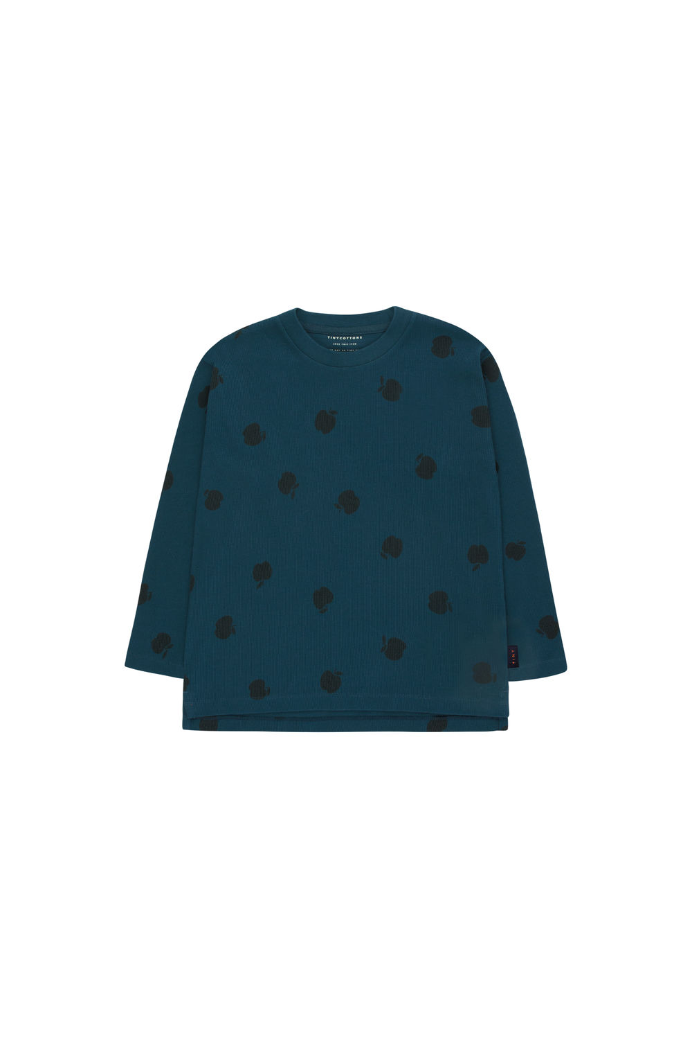 TINY COTTONS APPLES TEE, NAVY