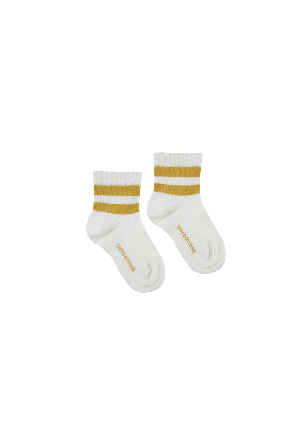 TINY COTTONS STRIPES RIB SOCKS,OFFWHITE