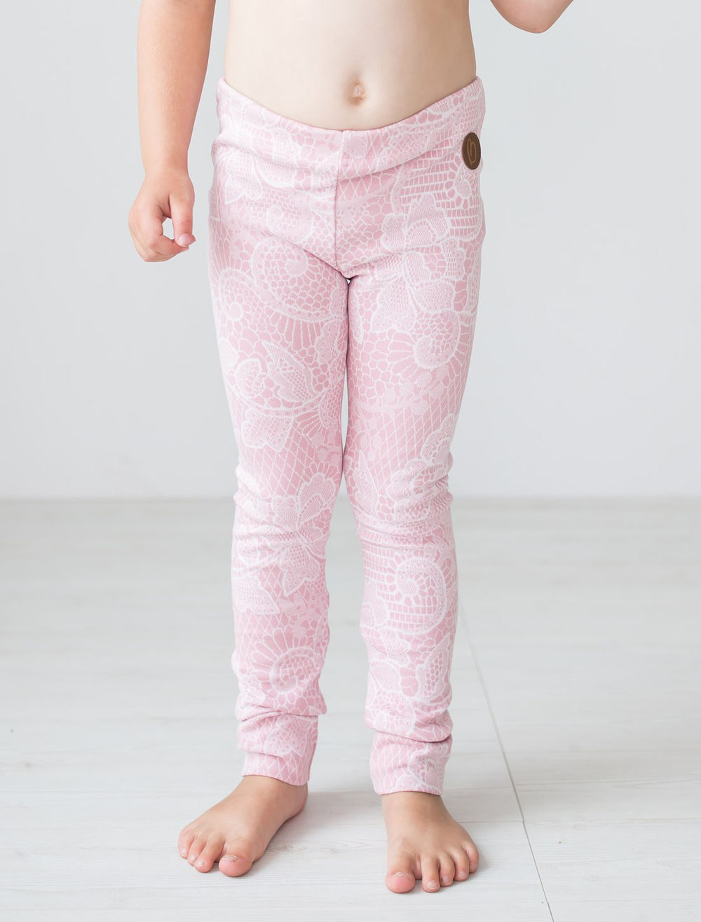 BLAA PARIS KNITTED LEGGINGS, LACE ROSE