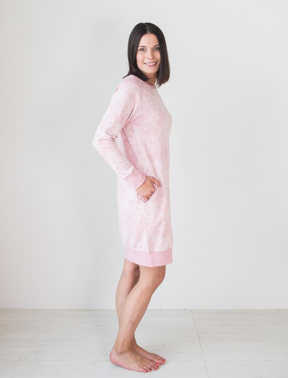 BLAA PHILADELPHIA KNITTED TUNIC, LACE ROSE