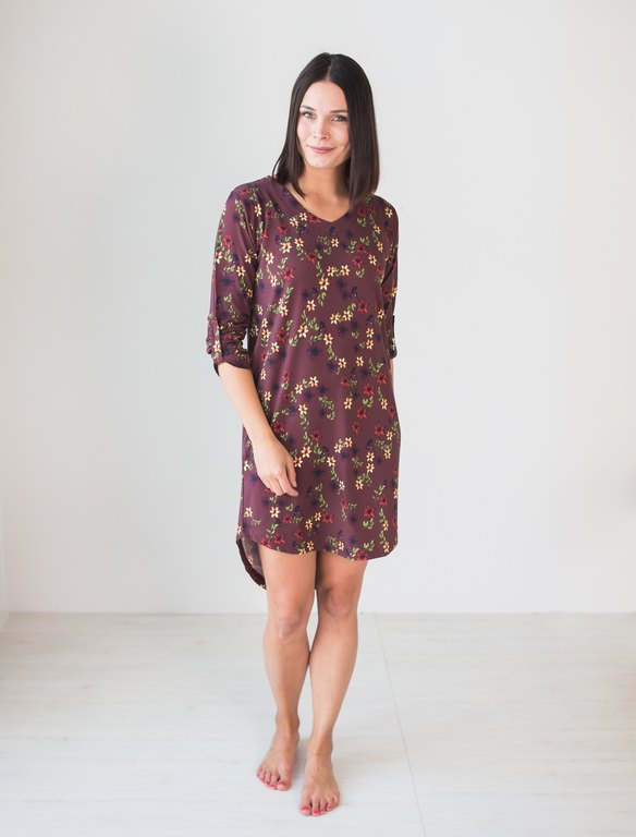 BLAA SANDY SHIRT DRESS, BOUQUET