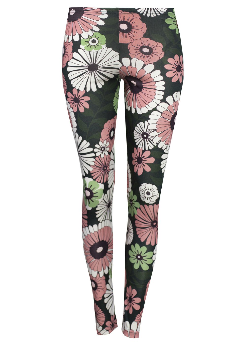 MIAMI Naisten Leggingsit, Retro Flower