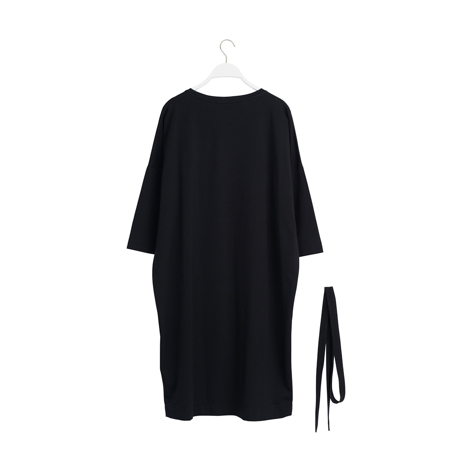 PAPU CUBIC DRESS, BLACK
