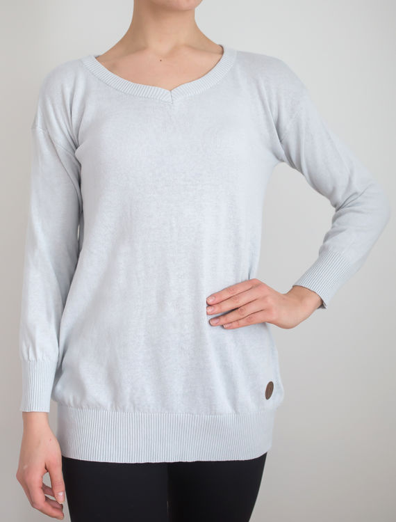 BLAA,GDANSK WOMAN KNIT SHIRT,ROCK GREY