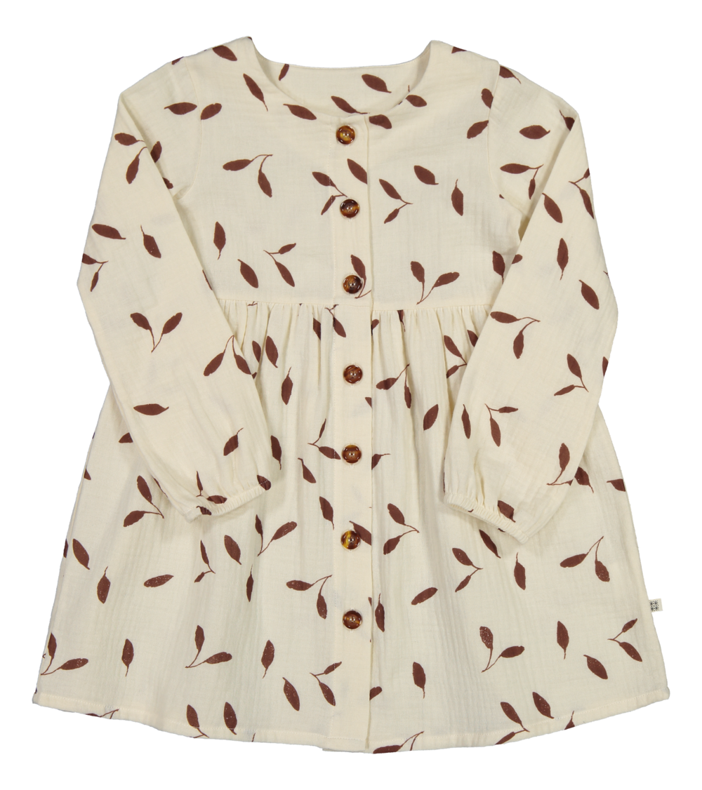 KAIKO WIND BUTTON DRESS LS, SAND