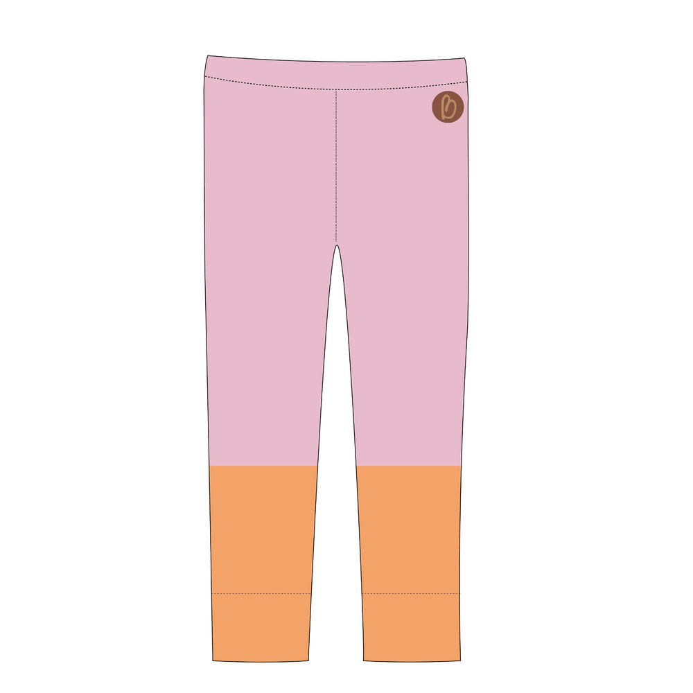 Paris Duo Leggins, Lavender&Peach