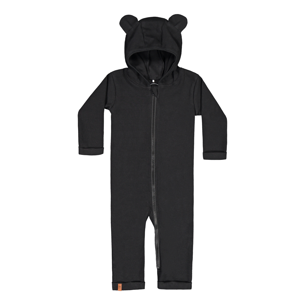 METSOLA RIB BEAR JUMPSUIT, BLACK
