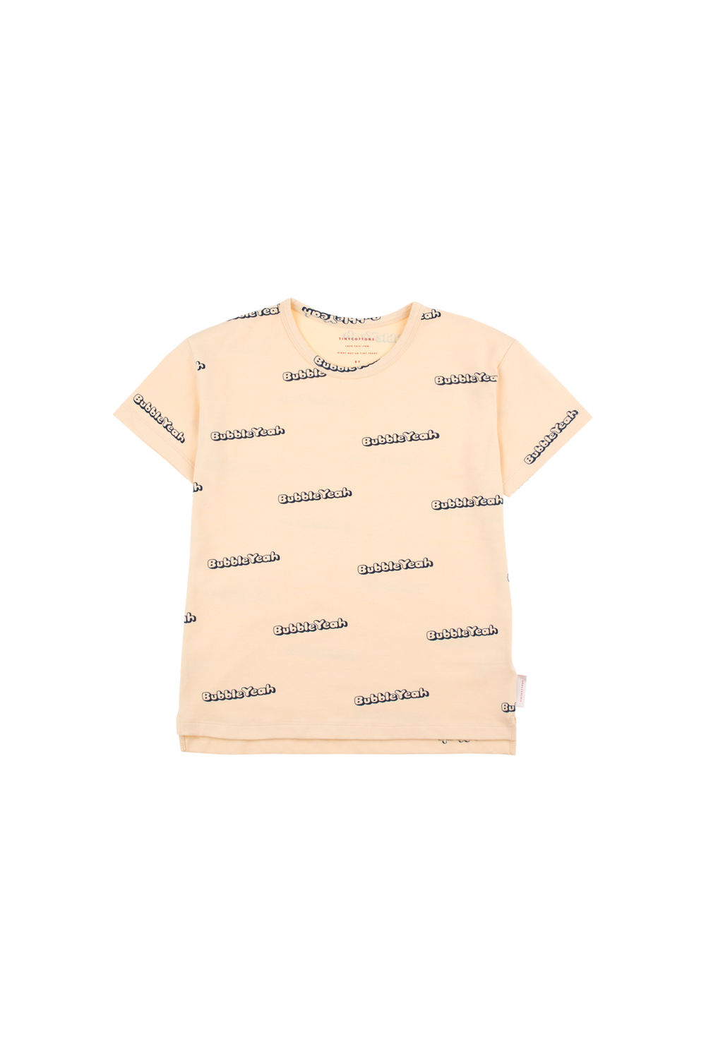 TINY COTTONS, BUBBLE YEAH T-SHIRT, CREAM/NAVY