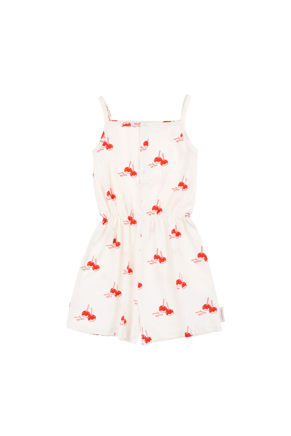 TINY COTTONS, CANDYAPPLES ROMPER, WHITE/RED
