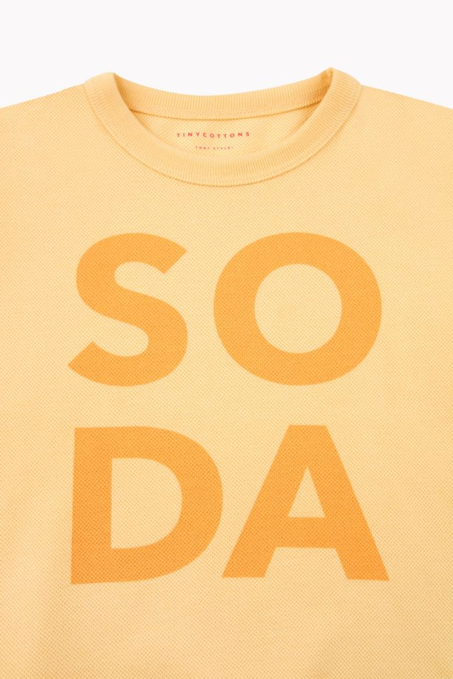 TINY COTTONS SODA SWEATSHIRT, CANARY/YEL