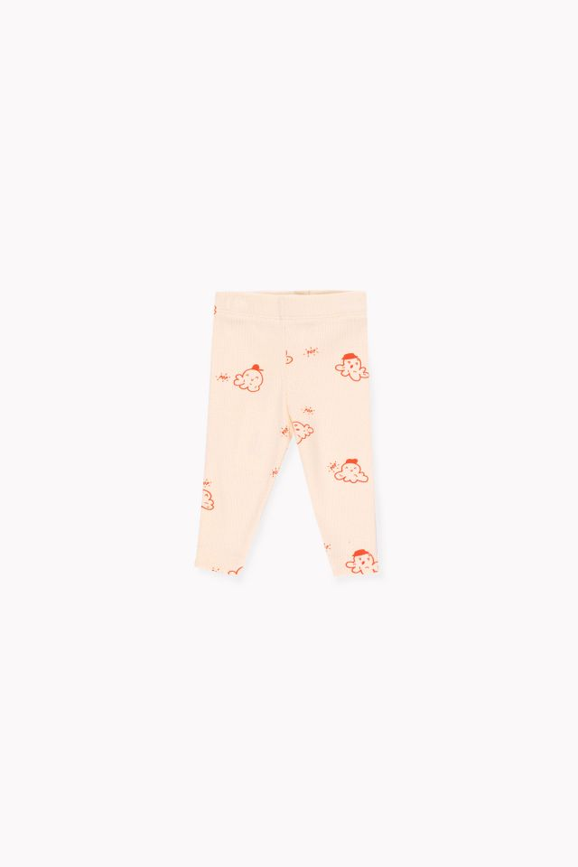 TINY COTTONS POPCORN PANT, CREAM/RED
