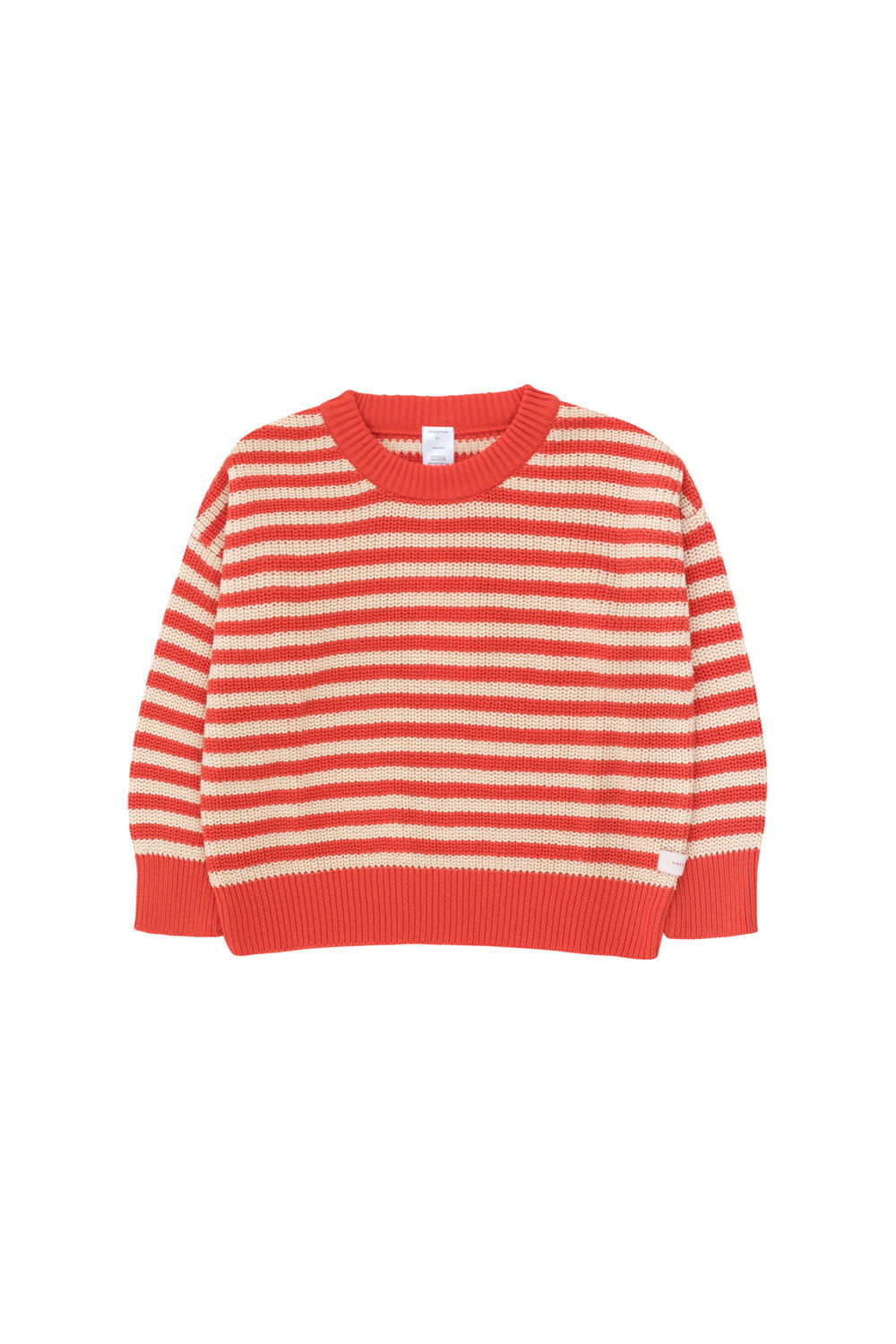 Tiny Cottons STRIPES SWEATER, Cream&Red
