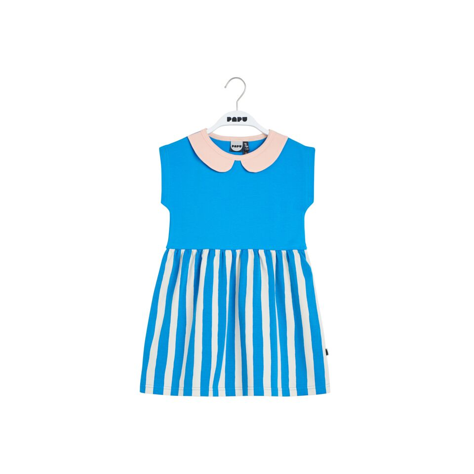 PAPU PENNY COLLAR DRESS,SKY BLUE