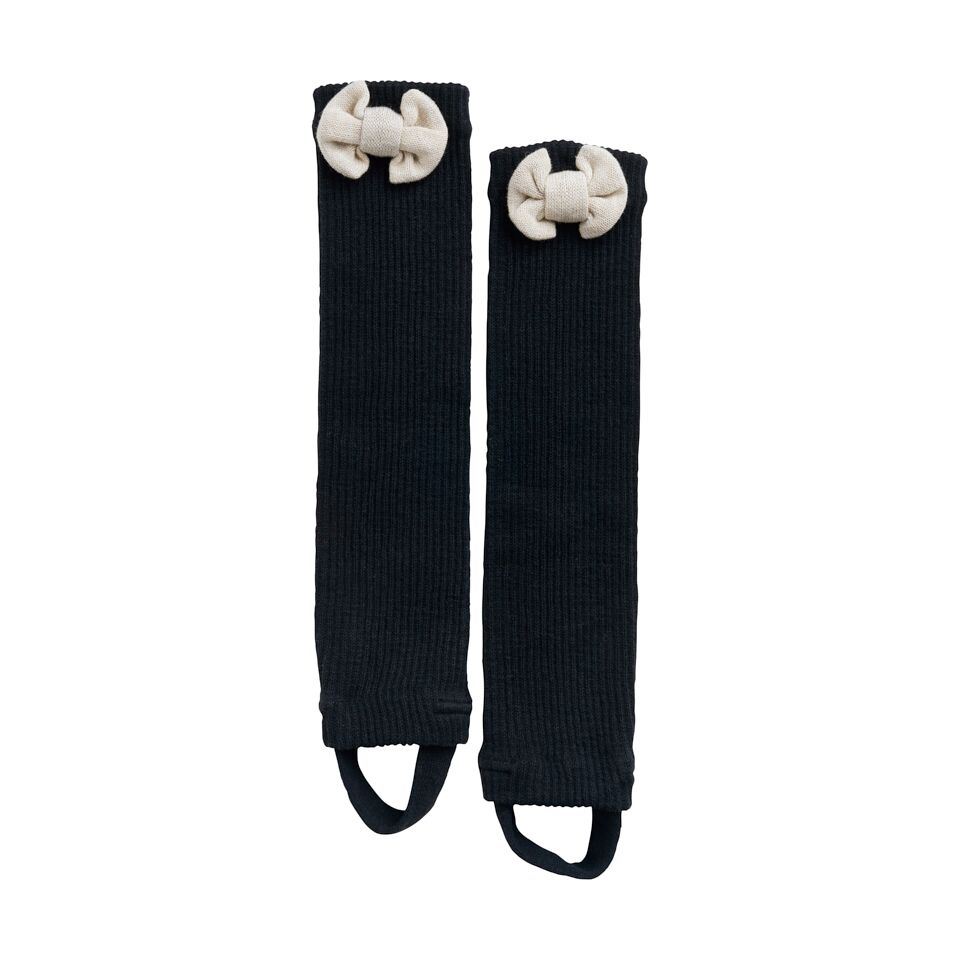 PAPU BOW LEG WARMERS ADULT, BLK/CREAM