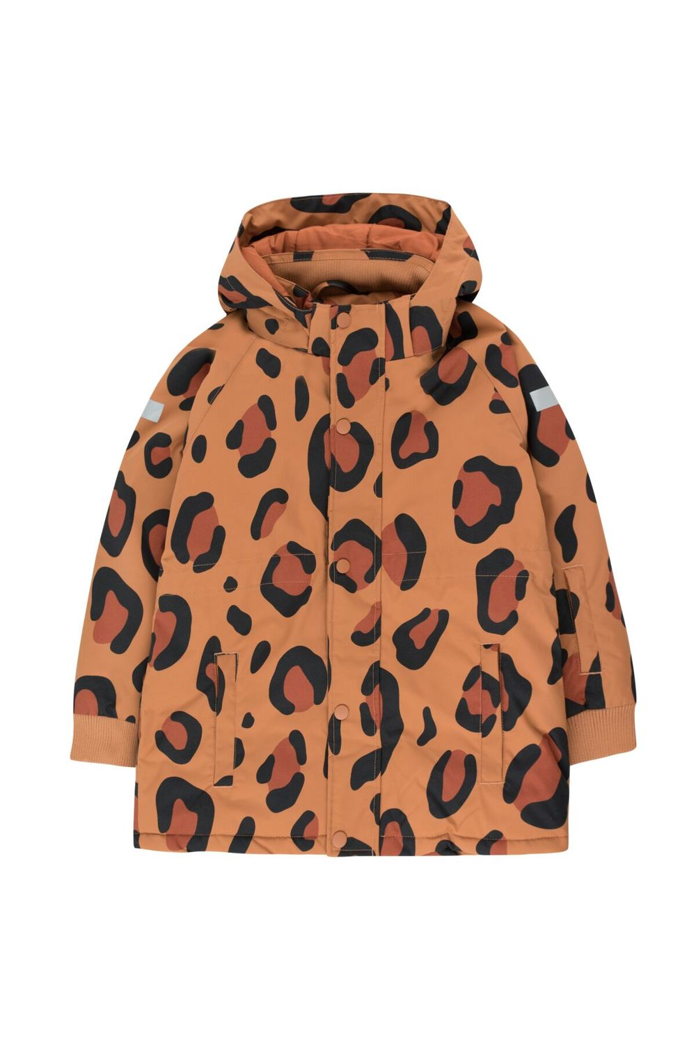 TINY COTTONS ANIMAL PRINT SNOW JKT, BROW