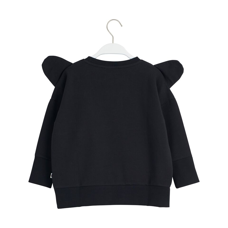 PAPU BEAR SWEATSHIRT, BLACK