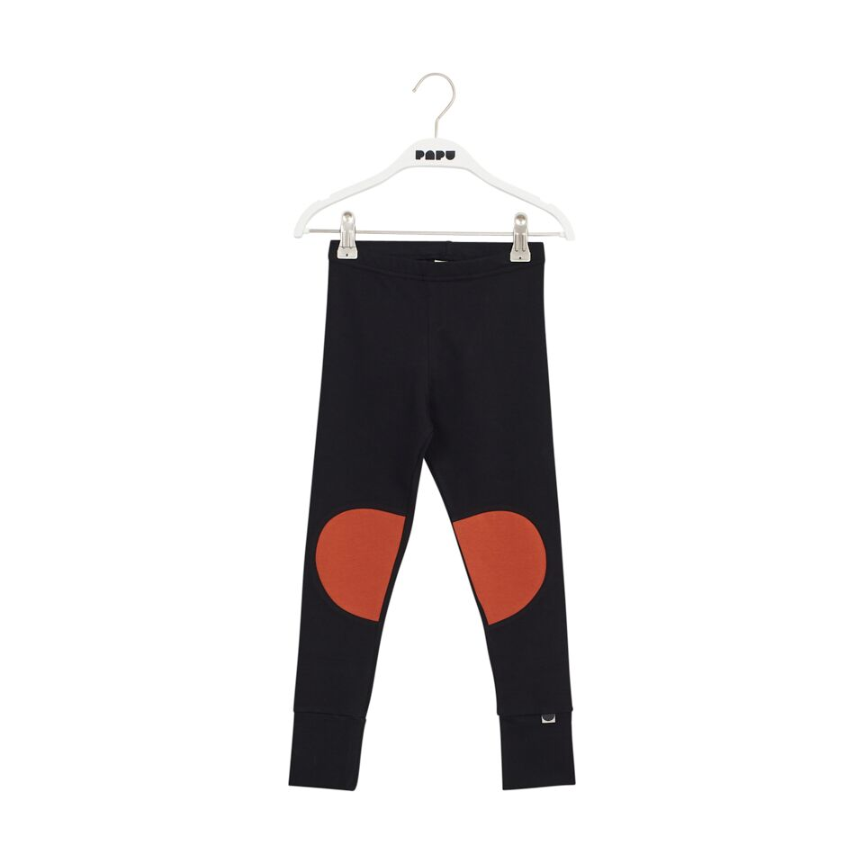 PAPU PATCH LEGGINGS, SUGAR BROWN/BLK