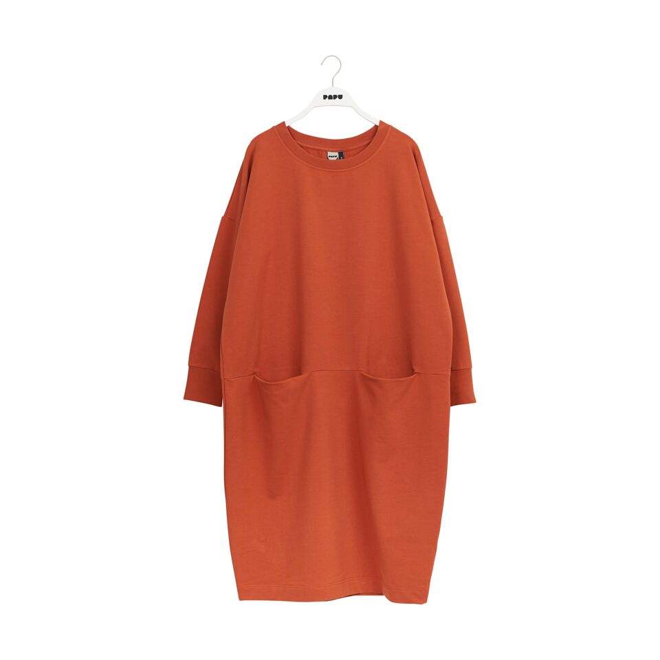 PAPU GIANT SPLIT DRESS, SUGAR BROWN