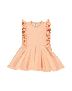 GRO ADELYN LOUNCED DRESS,PEACHY