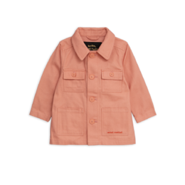 MINI RODINI SAFARI CROCO JACKET, PINK