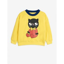 MINI RODINI YELLOW REVERSIBLE SWEATSHIRT