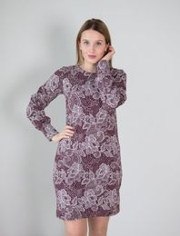 BLAA SYSLE KNITTED DRESS, LACE CHOCOLATE