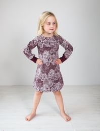 BLAA ENFIELD DRESS, LACE CHOCOLATE