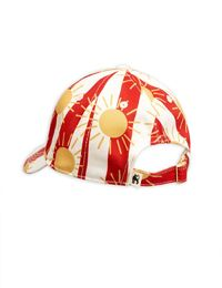 MINI RODINI SUN STRIPE CAP, RED