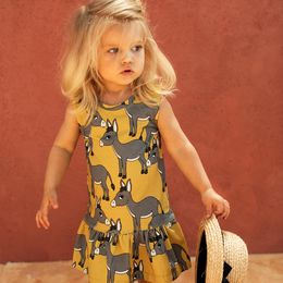 DEAR SOPHIE DONKEY YELLOW DRESS