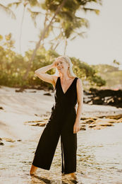KAIKO WOMEN JUMPSUIT, BLACK