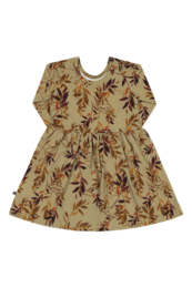 KAIKO DRESS LS, GOLDEN BOTANY
