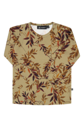 KAIKO T-SHIRT LS, GOLDEN BOTANY