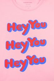 TINY COTTONS,HEY YOU, SS TEE, PINK/RED