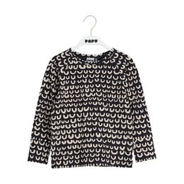 PAPU LOOP SHIRT LS, BLK/CREAM