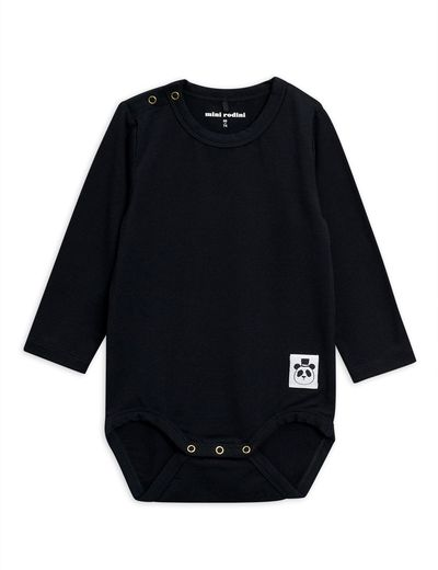 MINI RODINI BASIC LS BODY, BLACK