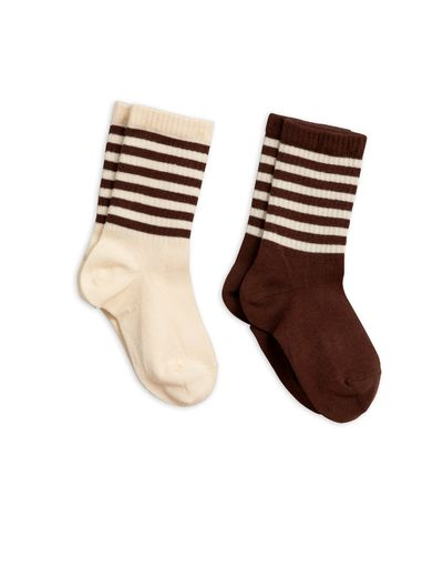 MINI RODINI 2-PACK SOCKS, BROWN