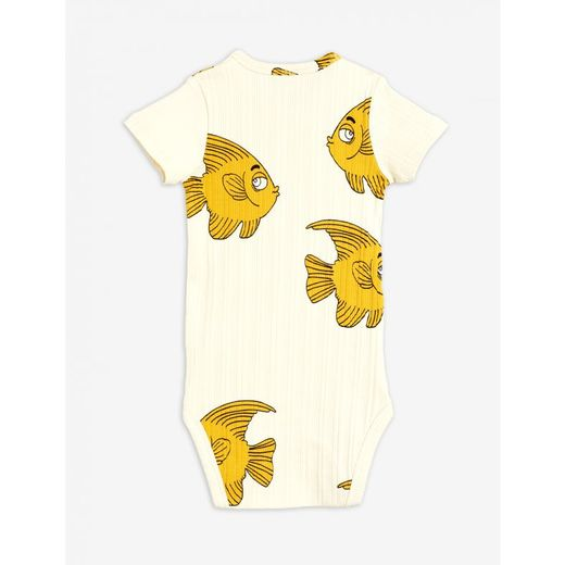 MINI RODINI FISH SS BODY, OFFWHITE