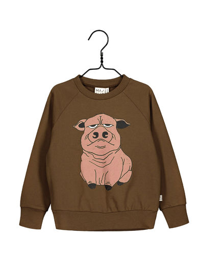 MAINIO MR OINK SWEATSHIRT, FIRED BRICK