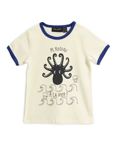 MINI RODINI OCTOPUS T-PAITA, BLUE