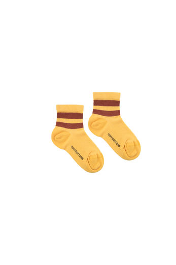 TINY COTTONS STRIPES RIB SOCKS, YELLOW