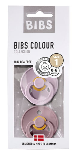 BIBS COLOUR 2-PACK TUTIT, DUSKY LILAC/HEATHER (luonnonkumi)