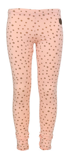 PARIS Leggingsit, Dot Peach