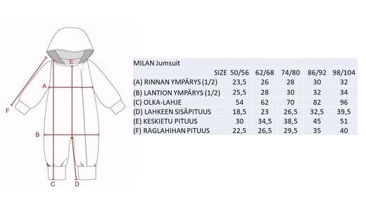 MILAN Jumpsuit trikoohaalari, Crab Red