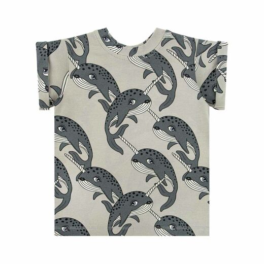 DEAR SOPHIE NARWHAL T-SHIRT, GREY