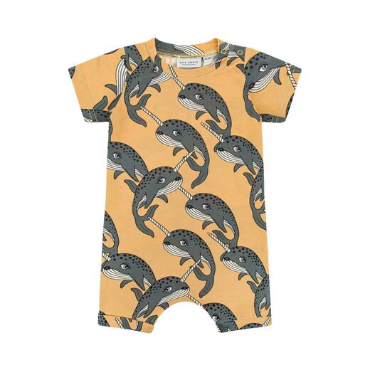 DEAR SOPHIE NARWHAL ROMPER, YELLOW
