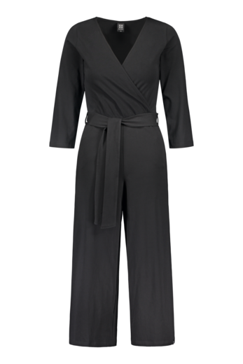 KAIKO BELTED JUMPSUIT, BLACK